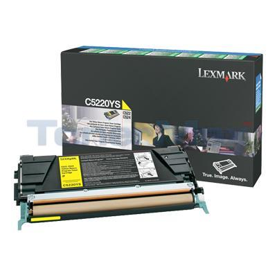 LEXMARK C524 TONER CARTRIDGE YELLOW RP